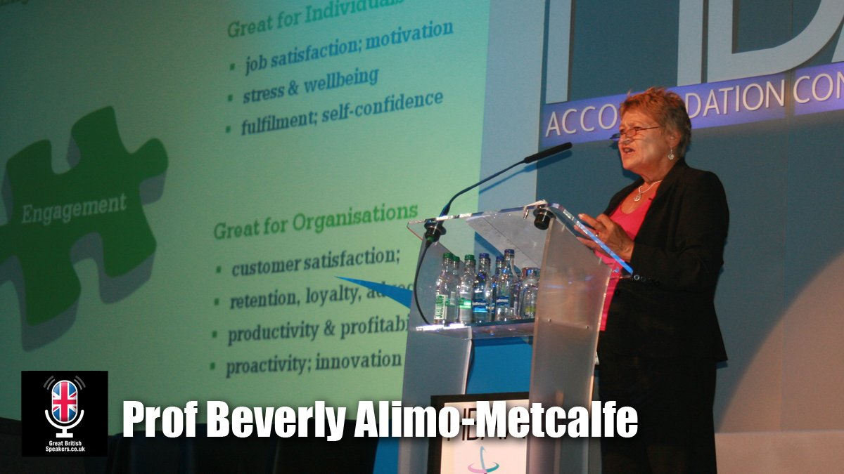Professor Beverly Alimo-Metcalfe joins Great British Speakers Agency
